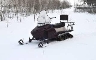 Самодельный снегоход-толкач